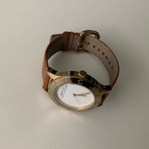 Marc by Marc Jacobs Leather Watch Gold Brown